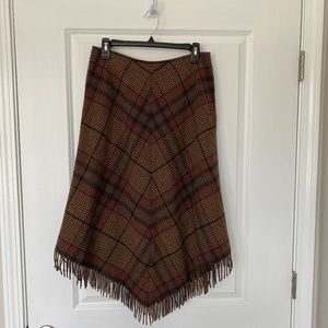 Lauren Ralph Lauren Lambswool Plaid Blanket Skirt